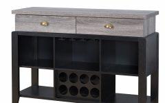 Rustic Black 2-drawer Buffets