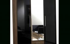 3 Door Black Gloss Wardrobes