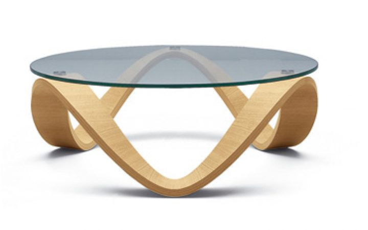 Glass Circle Coffee Table Metal Base