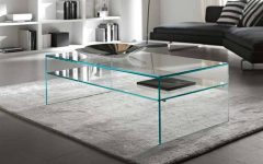 Contemporary Glass Coffee Table Modern