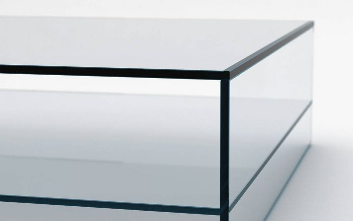 Glass Coffee Tables with Shelf