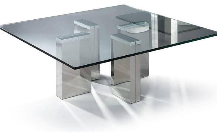 Black Curved Bent Glass Coffee Tables