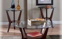 Modern Glass Top Coffee Tables and End Tables