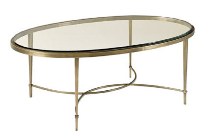 Glass Top Oval Coffee Table Contemporary