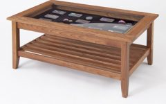 Modern Glass Top Wood Coffee Table Sets