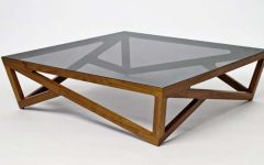Glass & Wood Coffee Table Furniture