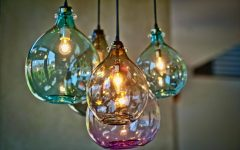 Blown Glass Pendant Lights Fixtures