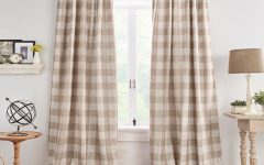 Grainger Buffalo Check Blackout Window Curtains