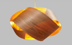 Wood Veneer Pendant Lights