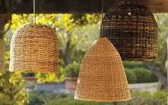 Outdoor Rattan Hanging Lights