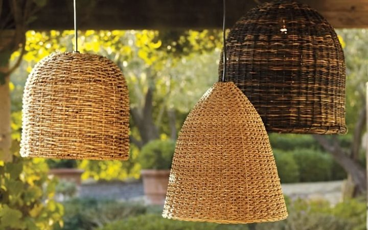 Outdoor Hanging Wicker Lights