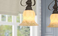 Grullon Scroll 1-light Single Bell Pendants