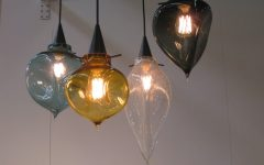Blown Glass Kitchen Pendant Lights