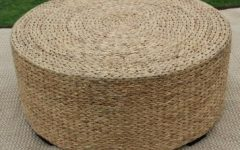 Seagrass Coffee Table Round Ottoman