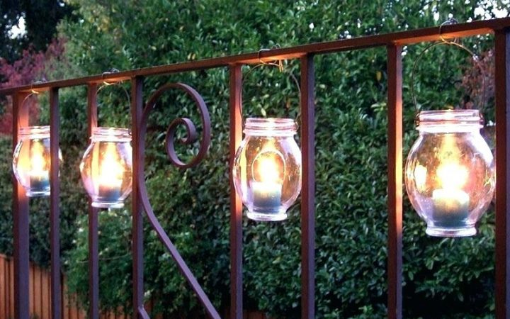 Outdoor Hanging Lanterns with Candles