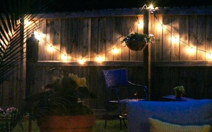 Hanging Outdoor Lights on Fence