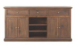 Open Shelf Brass 4-drawer Sideboards