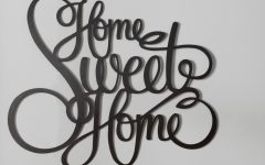 Laser Engraved Home Sweet Home Wall Decor