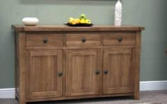 Rustic Oak Large Sideboards