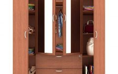 4 Door Wardrobes with Mirror and Drawers