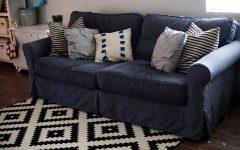Blue Slipcover Sofas