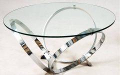 Round Chrome Coffee Tables