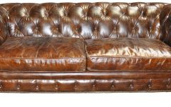 Brown Leather Tufted Sofas