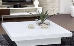 White Coffee Table Modern  High Quality