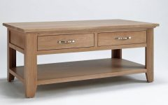 Light Oak Coffee Tables with Drawers