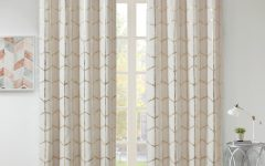 Total Blackout Metallic Print Grommet Top Curtain Panels