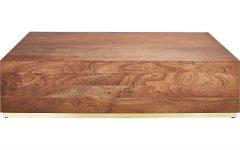 Joni Brass and Wood Coffee Tables