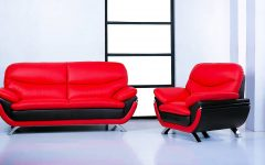 Sofa Red and Black