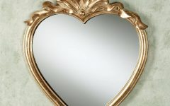 Gold Heart Mirrors
