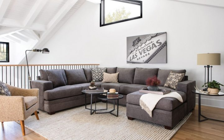 Mcdade Graphite 2 Piece Sectionals with Raf Chaise