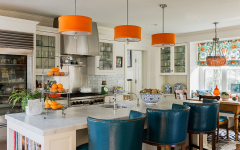 Orange Pendant Lights for Kitchen