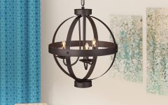 La Sarre 3-light Globe Chandeliers
