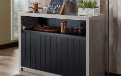Industrial Cement-Like Multi-Storage Dining Buffets