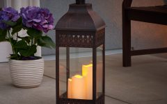 Outdoor Lanterns With Flameless Candles