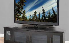 Black Corner Tv Cabinets With Glass Doors