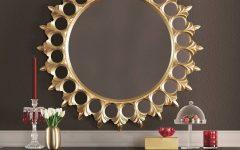 Large Round Gold Mirrors