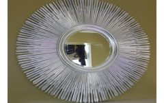 Large Round Silver Mirrors