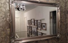 Large Pewter Mirrors