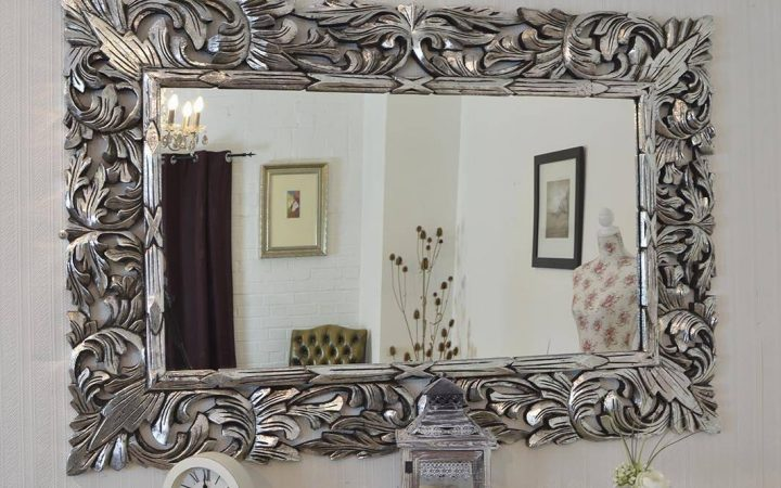 Large Ornate Silver Mirrors