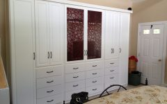 Large White Wardrobes with Drawers