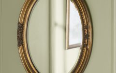 Oval Wood Wall Mirrors