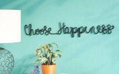 Choose Happiness 3d Cursive Metal Wall Decor