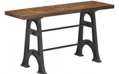 Layered Wood Small Square Console Tables