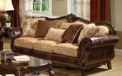 Leather and Cloth Sofa