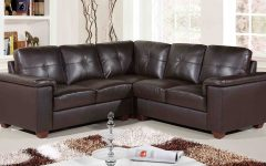 Small Brown Leather Corner Sofas