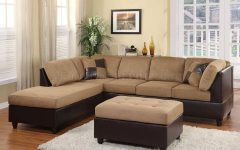 Chocolate Brown Microfiber Sectional Sofas